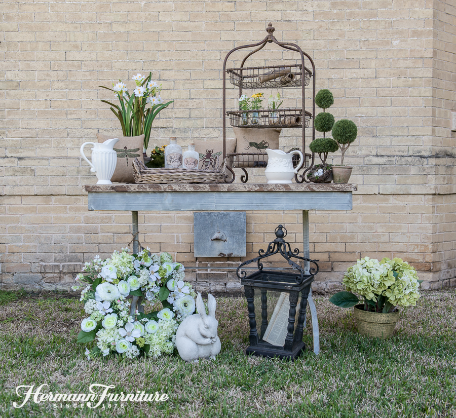 We Love Adding A Touch Of Green For Spring Decor. It Goes With Everything,  And You Can Add A Little Or A Lot! Here We Simply Used The Greenery From  Floral ...
