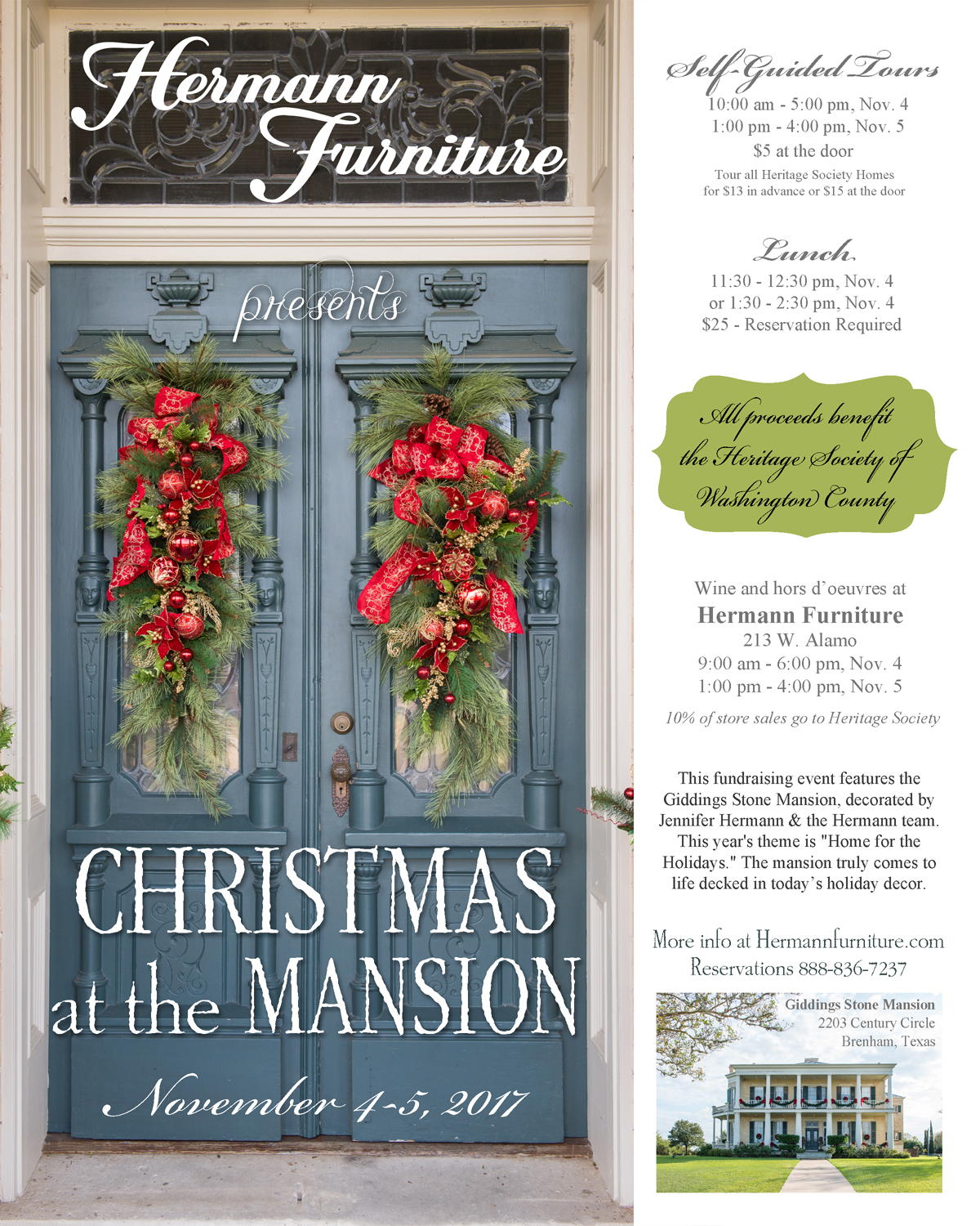 save the date christmas at the mansion 2017 - Whens Christmas